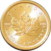 5 Dollars - Elizabeth II (4th Portrait; 1/10 oz. Gold Bullion Coinage) -  obverse