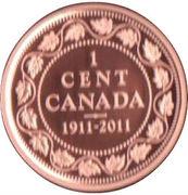 1 Cent - Elizabeth II (George V Copper Cent) – reverse