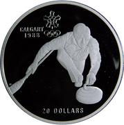 20 Dollars - Elizabeth II (Curling) -  reverse