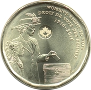 1 Dollar - Elizabeth II (Women's Right to Vote) -  reverse