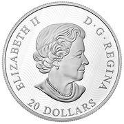 20 Dollars - Elizabeth II (Landscapes; Lake Magog) -  obverse