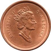 1 Cent - Elizabeth II (3rd portrait) – obverse