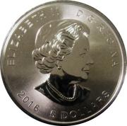 5 Dollars - Elizabeth II (Superman S-Shield; 1 oz. Silver Bullion Coinage) -  obverse