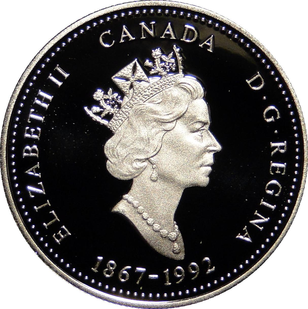 CANADA 1867-1992 ANNIVERSARY 25¢ ONTARIO SILVER PROOF QUARTER COIN