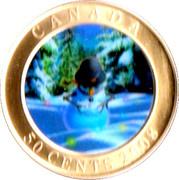 50 Cents - Elizabeth II (Snowman) -  reverse
