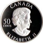 50 Cents - Elizabeth II (Golden Forget-Me-Not) -  obverse