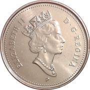 5 Cents - Elizabeth II (3rd portrait; magnetic) -  obverse