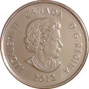 25 Cents - Elizabeth II (War of 1812, Tecumseh; colourized) -  obverse