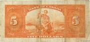 5 Dollars (English) – reverse