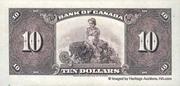 10 Dollars (English) – reverse