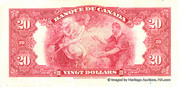 20 Dollars (French) -  reverse