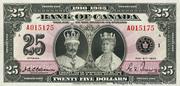 25 Dollars (King George V - English) – obverse