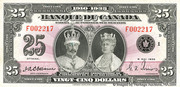 25 Dollars (King George V - French) -  obverse