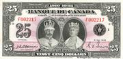 25 Dollars (King George V - French) – obverse