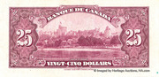 25 Dollars (King George V - French) -  reverse
