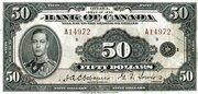 50 Dollars (English) -  obverse