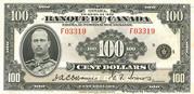 100 Dollars (French) -  obverse