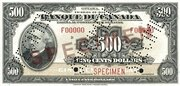 500 Dollars (French) -  obverse