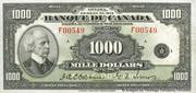 1,000 Dollars (French) -  obverse