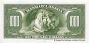 1,000 Dollars (English) – reverse