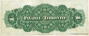 1 Dollar (Dominion of Canada) -  reverse