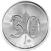 5 Dollars - Elizabeth II (30th Anniversary Maple Leaf Bullion)