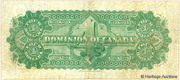 4 Dollars (Dominion of Canada) -  reverse