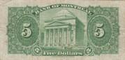 5 Dollars (Bank of Montreal) – reverse