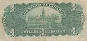 1 Dollar (Dominion of Canada) – reverse