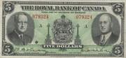 5 Dollars (The Royal Bank Of Canada) – obverse