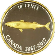 10 Cents - Elizabeth II (5 Oz. Silver 1967 10 cent) -  obverse