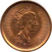 1 Cent - Elizabeth II (Golden Jubilee; non-magnetic) – obverse