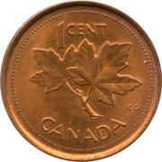 1 Cent - Elizabeth II (Golden Jubilee; non-magnetic) – reverse