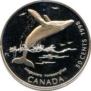 50 Cents - Elizabeth II (Humpback whale) -  reverse