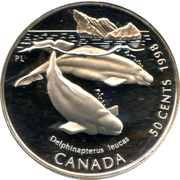 50 Cents - Elizabeth II (Beluga Whale) -  reverse