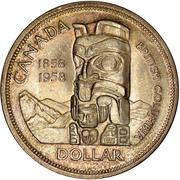 1 Dollar - Elizabeth II (British Columbia) -  reverse