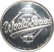1 oz Silver (1992 World Champions - Toronto Blue Jays) – obverse
