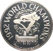 1 oz Silver (1992 World Champions - Toronto Blue Jays) – reverse
