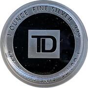 1 oz Silver (TD Coast-to-Coast) – reverse