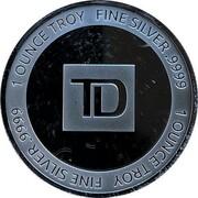 1 oz Silver (TD Northern Lights) – reverse