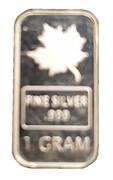 1 Gram Silver (Royal Canadian Mint) – obverse