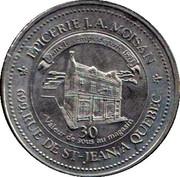 30 Cents - J.A. Moissan (Samuel de Champlain) – reverse