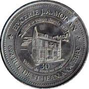 30 Cents - J.A. Moissan (Jacques Cartier) – reverse