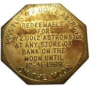 "10 Cents / 2 Astrons - ""Moon Money"" Regency Coin & Stamp Co. (Winnipeg) – reverse"
