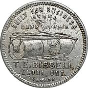 Token - T.E. Bissell (Elora, Ontario) – obverse
