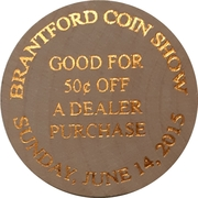 50 Cents - Brantford Coin Show – reverse