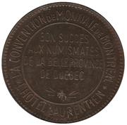 50 Cents - La convention de monnaie de Montréal (Montréal, Québec) – obverse