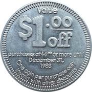 1 Dollar - Taco Time Peso – reverse