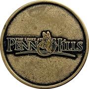Golf ball marker - The Links at Penn Hills (Shubenacadie, Nova Scotia) – obverse