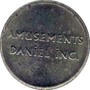 Token - Amusement Daniel Inc. (Montreal, Quebec) – obverse